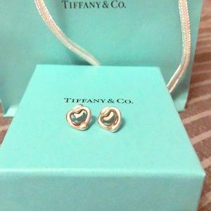 Tiffany and Co Elsa Peretti open heart earrings